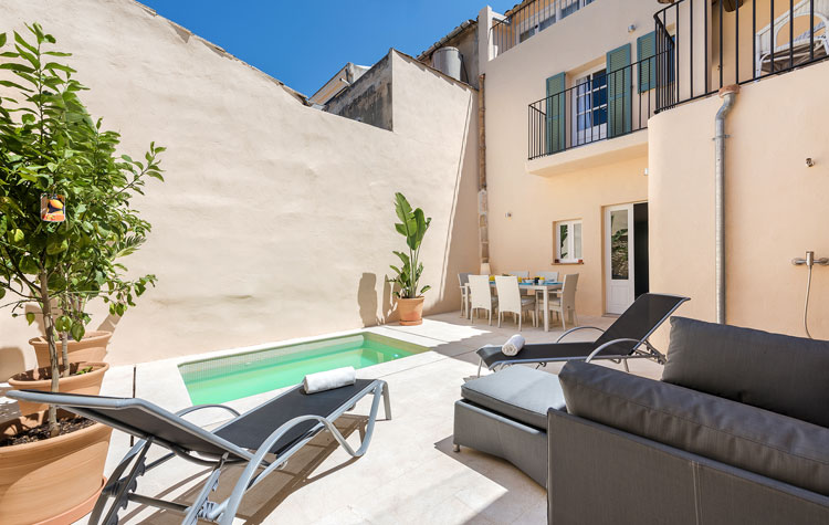 Casa Rosario holiday villa with pool in Pollensa Mallorca